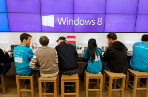 General Views Of A Microsoft Corp Store Opening After The Release Of Windows 8