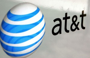 PARK RIDGE, IL - JULY 25:  An AT&T logo is displayed on an AT&T truck July 25, 2006 in Park Ridge, Illinois. AT&T announced July 25 that its profits climbed 81 percent with the growth in wireless communications and broadband service. (Photo by Tim Boyle/Getty Images)