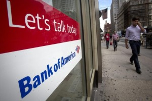 A Bank Of America location is pictured in the Manhattan borough of New York August 21, 2014. REUTERS/Carlo Allegri
