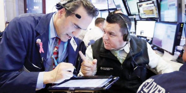 Stocks extend record highs, head for sharp weekly gains